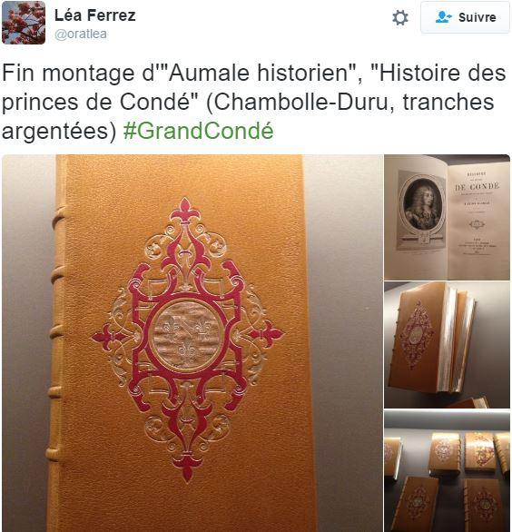 Chantilly, cabinet des livres : le duc d'Aumale historien A16