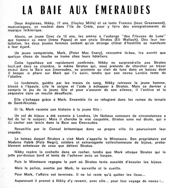 [Walt Disney Pictures] La Baie aux Emeraudes (1964) 1965_014