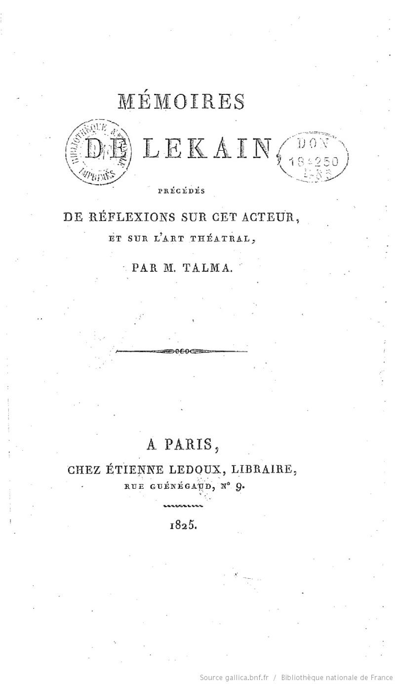 Henri-Louis Caïn, dit LeKain Bpt6k610