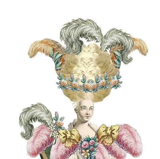 Amusement : Création d'une perruque à la mode du XVIIIè siècle - Page 2 Canvas10