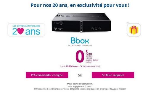 Pour ses 20 ans, Bouygues Telecom offre la Bbox à ses meilleurs clients Bboxze10