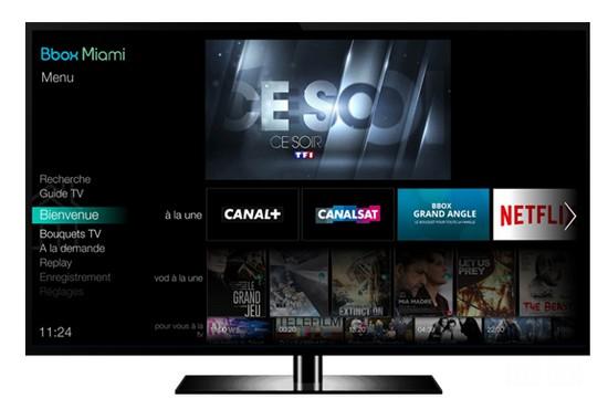 La nouvelle interface TV de la Bbox Miami en phase de déploiement Interf10