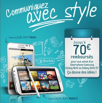 Samsung Galaxy Note II disponible chez Bouygues Telecom à 79,90€ Odrsam10