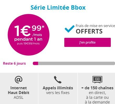 Exclusivité web: Offre en série Limitée Bbox à 1,99€ par mois  Offres11