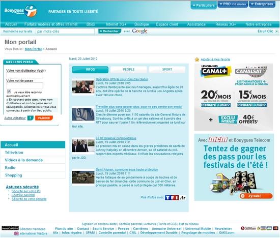 page d accueil bouygues telecom