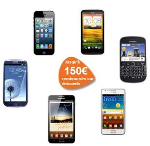 Promo Bouygues Telecom: 150€ sur  9 smartphones Smart110