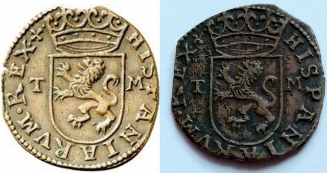 Cuartillo de Real Felipe II  (1566-1597 Toledo)  Proyec12