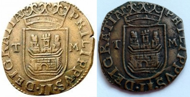 Cuartillo de Real Felipe II  (1566-1597 Toledo)  Proyec13
