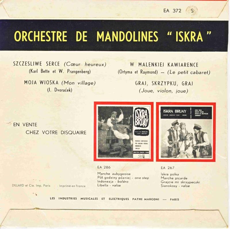 """Discogr. de l'Orchestre de Mandolines """" ISKRA """" - Page 5 Ea372-11"""