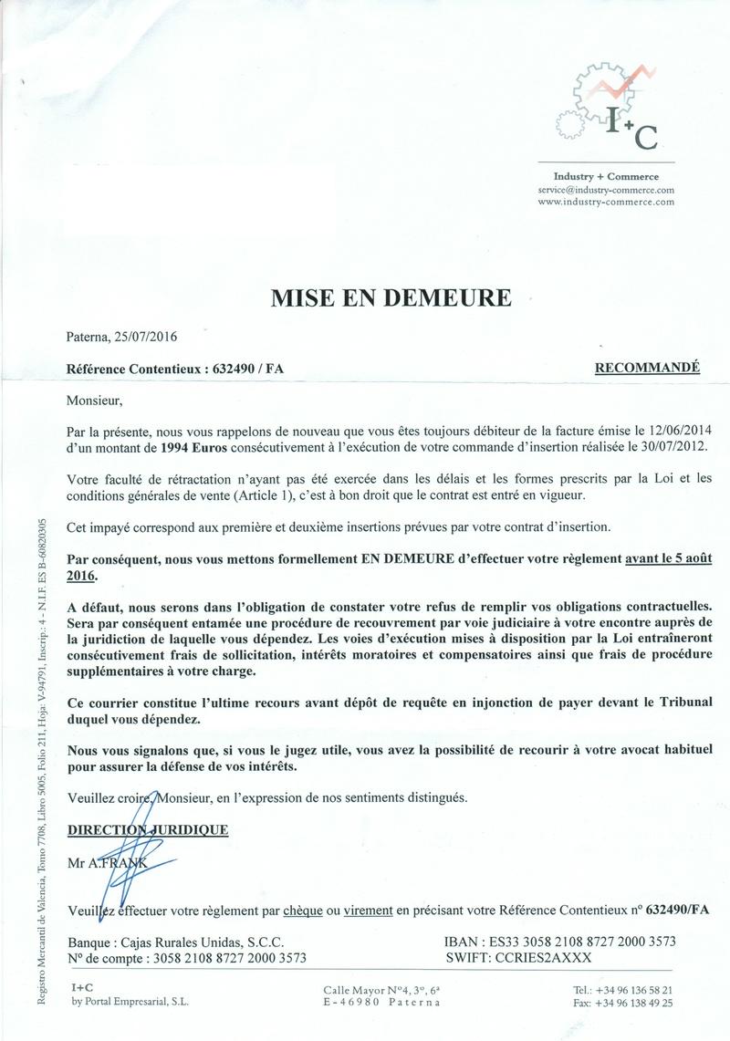 Arnaque par mail Cci27010