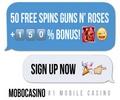 MoboCasino 150% Bonus + 50 Free Spins  Mobo-b10