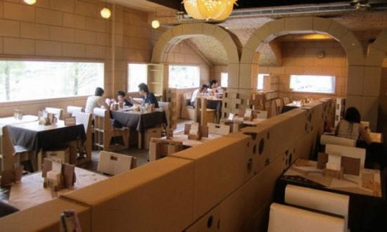 أغرب مطعم في تايوان مصنوع من الورق Large110