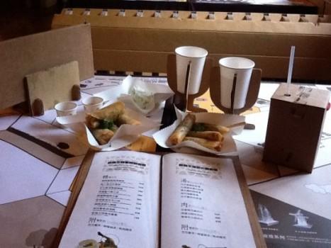 أغرب مطعم في تايوان مصنوع من الورق Origin10