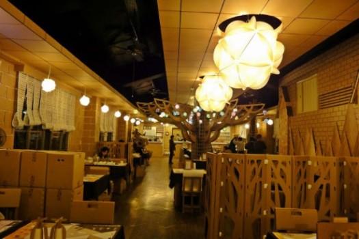أغرب مطعم في تايوان مصنوع من الورق Origin11