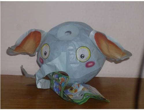 Les jouets en papier Ele10