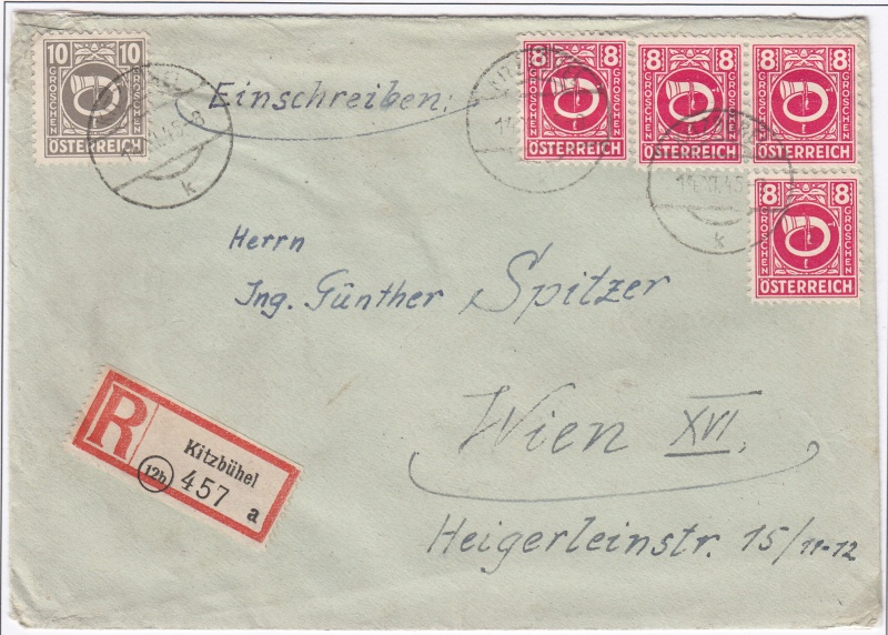 Posthornzeichnung  -  ANK 697-713  -  Belege - Seite 2 Img15
