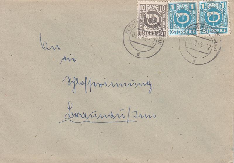 Posthornzeichnung  -  ANK 697-713  -  Belege - Seite 2 Img44