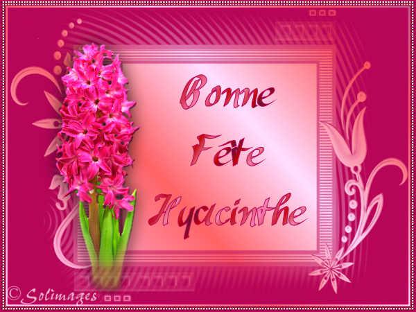 fête  à  souhaiter   - Page 5 Hyacin10