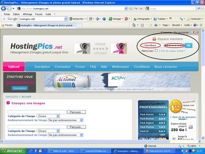 TUTO :  Comment poster des photos sur le forum avec Hostingpics.net Hostin12