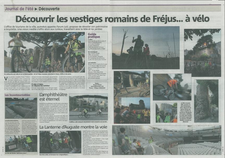 Var Matin - 2012 - ARTICLE visite du patrimoine de Fréjus à vélo 2012-010
