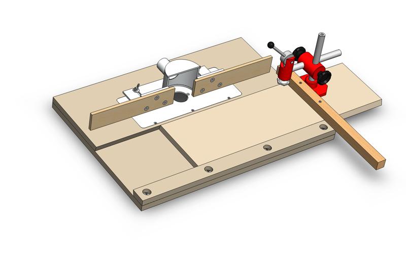 Une table de défonceuse avec chariot Table_10