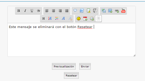 """[javascript] Añadir un boton """"Resetear""""  Button10"""