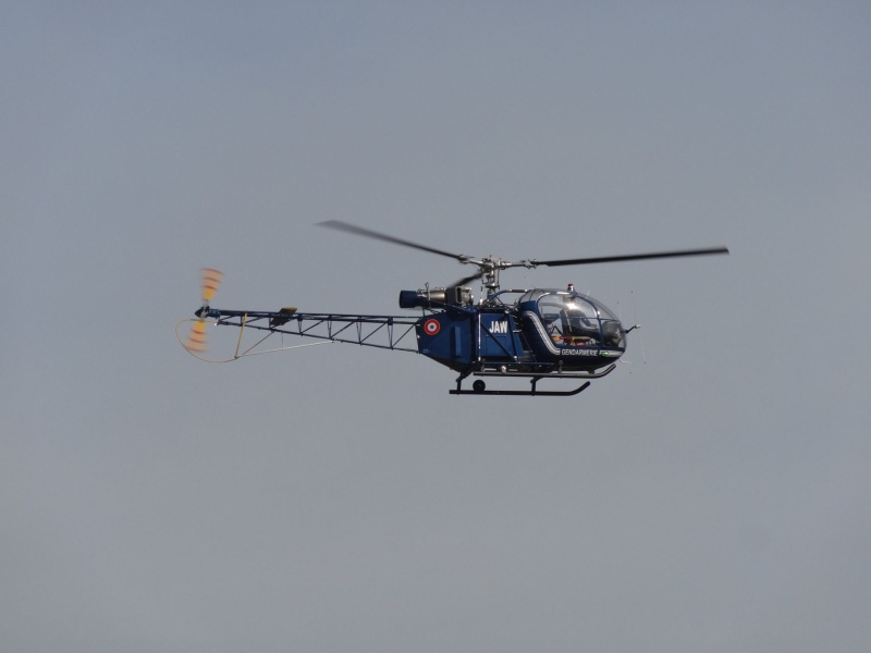 Alouette 2 JAW Gendarmerie et Lama WUCHER avec tète Alouette usinage local 13123010