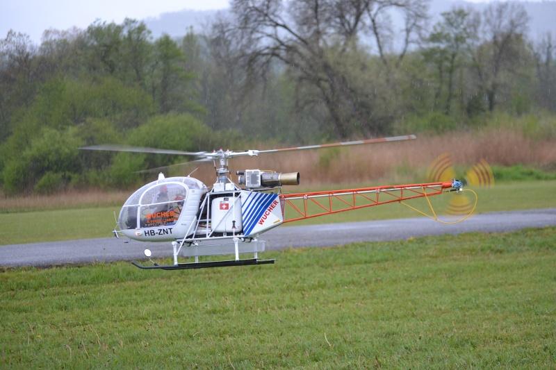 Alouette 2 JAW Gendarmerie et Lama WUCHER avec tète Alouette usinage local Dsc_0510