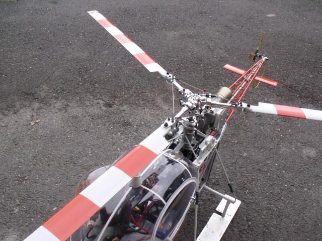 Alouette 2 JAW Gendarmerie et Lama WUCHER avec tète Alouette usinage local Dscf6211