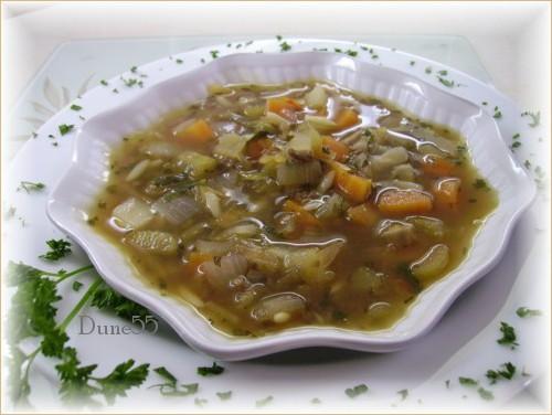 Soupe Orzo, légumes et steak haché 24101310