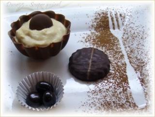Mousse au café en coupelles de chocolat Pict3210
