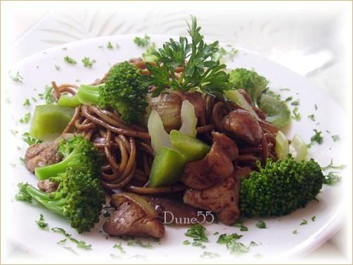 Nouilles chinoise poulet|brocoli Pict9011