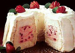 Gâteau tunnel aux fraises et à la crème Recipe13