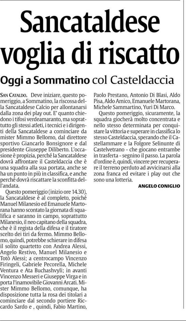 Campionato 19° giornata: Sancataldese - Casteldaccia 1-0 117