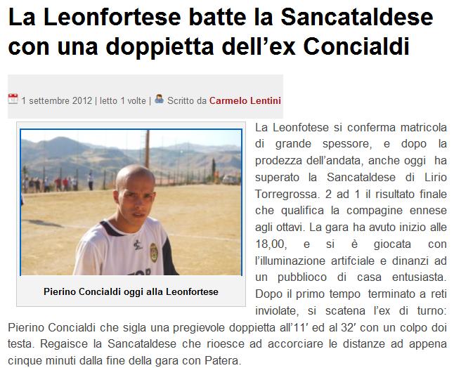 1° turno C. I. ritorno: Leonfortese - Sancataldese 2-1 1zn33i10