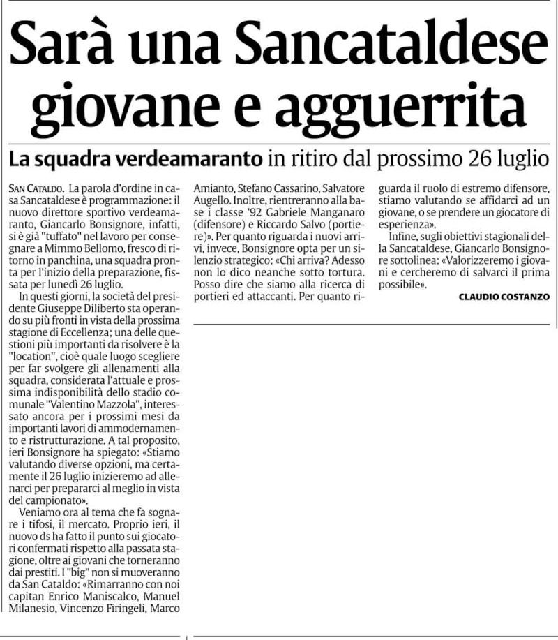 Calciomercato Sancataldese Cn2210