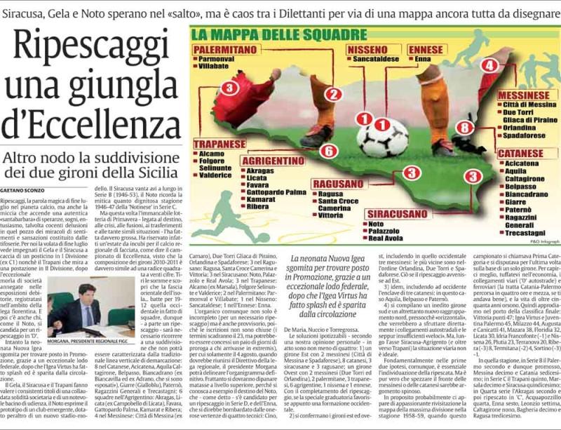 Squadre Eccellenza stagione 2010/2011 Cnsc18