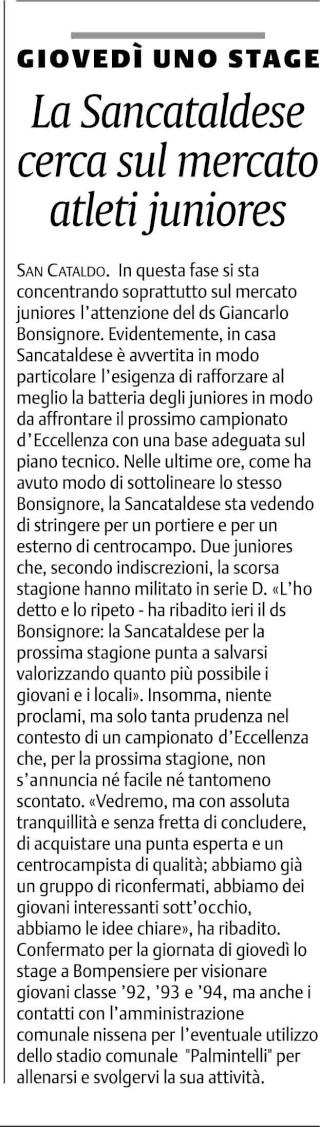 Calciomercato Sancataldese Cnsc22