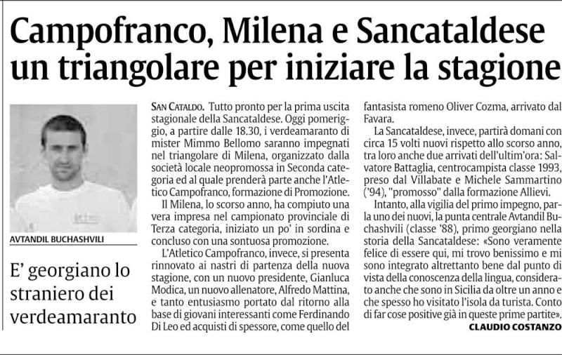 Triangolare Sancataldese - Nissa - Montedoro Cnsc26