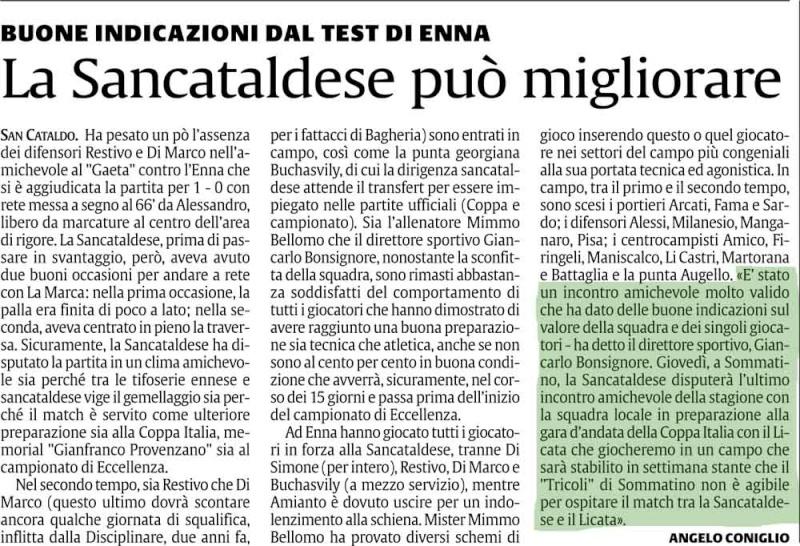 1° turno Coppa Italia andata: Sancataldese - Licata 2-1 Cnsc29