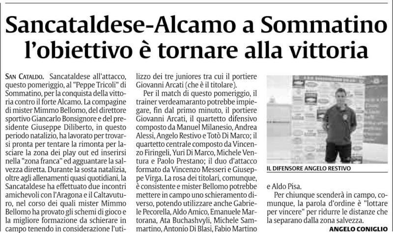 Campionato 17° giornata: Sancataldese - Alcamo 2-1 Cnsc36