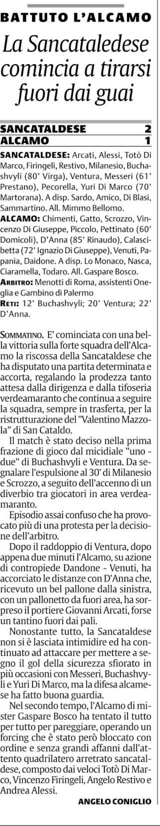 Campionato 17° giornata: Sancataldese - Alcamo 2-1 Cnsc38