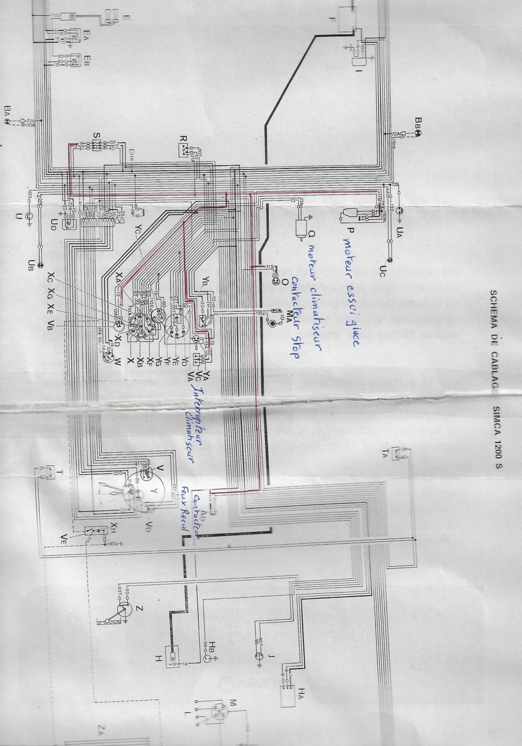 Faisceau electrique Simca 1200s 00310