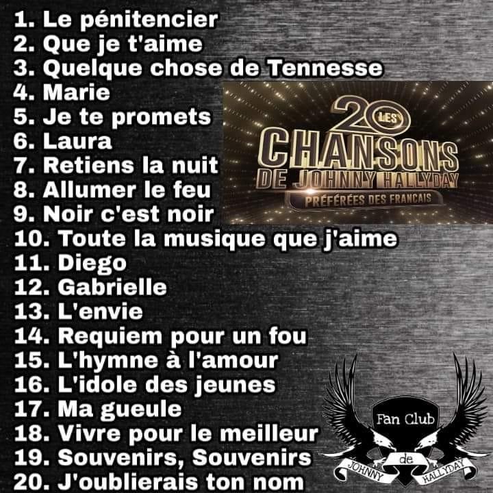 Les 20 chansons préferées des français .. 44062910