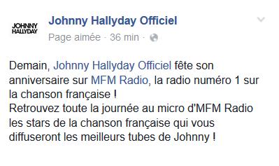 Anniversaire de Johnny sur MFM radio Captur11