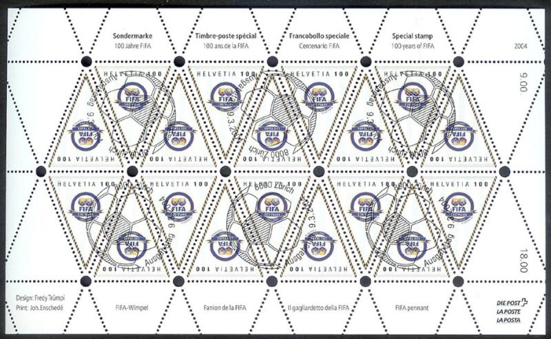 Dreieckige Briefmarken Fifa10