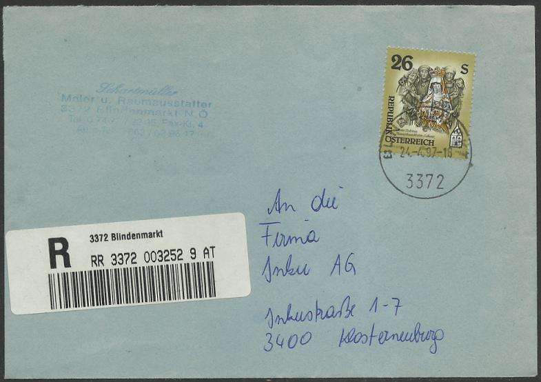 """Freimarkenserie """"Kunstwerke aus Stiften und Klöstern"""" 2600_e10"""