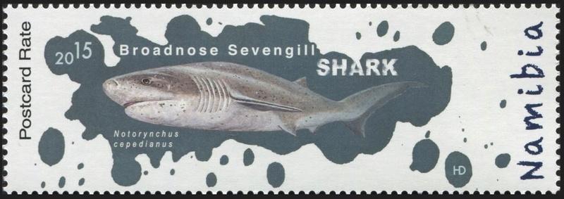 Haie auf Briefmarke Hai110