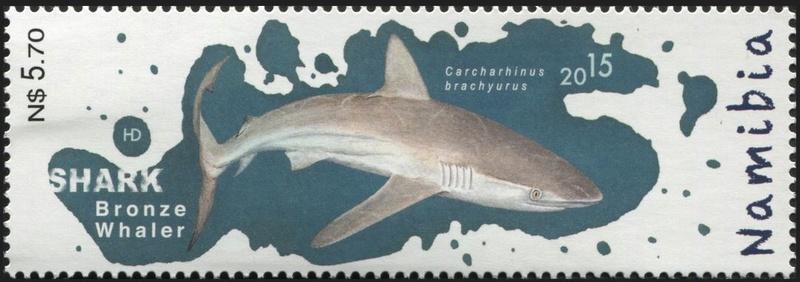 Haie auf Briefmarke Hai1a10
