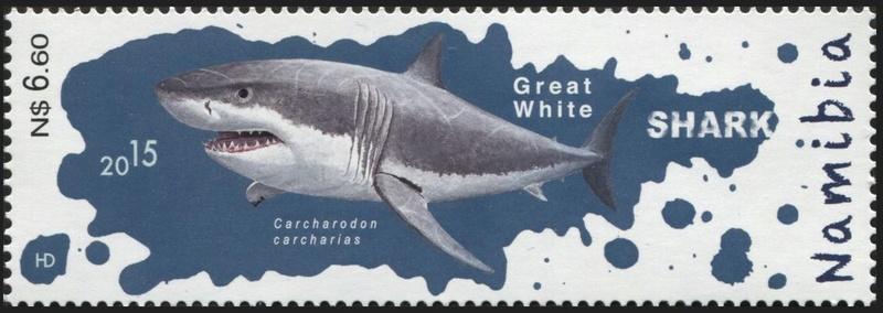Haie auf Briefmarke Hai210